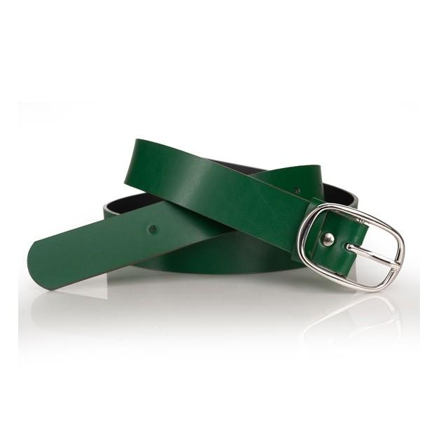 Damski skórzany pasek 29mm zielony (A321)