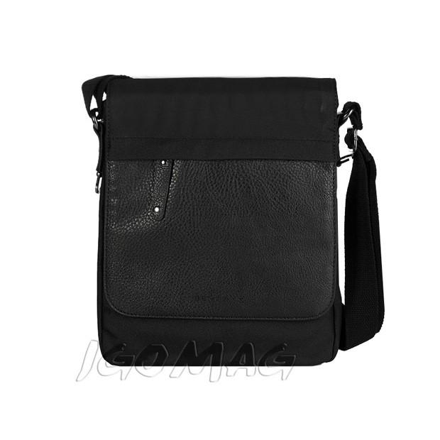 Bever's - Męska torba listonoszka na ramię czarna (183-2)