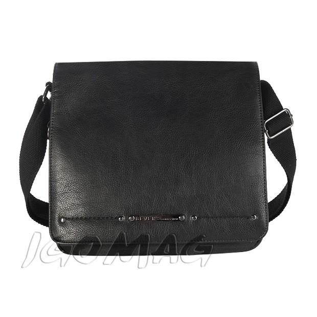 Bever's - Męska torba listonoszka na ramię czarna (T147)