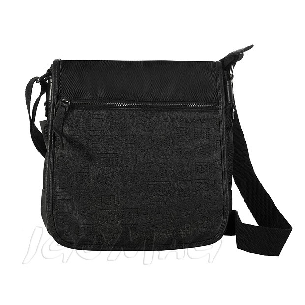 Bever's - Męska torba listonoszka na ramię czarna (T164)