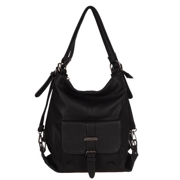 Gallantry - Torebka-plecak 2w1 Eko-skóra czarna (HJ-5249-01)