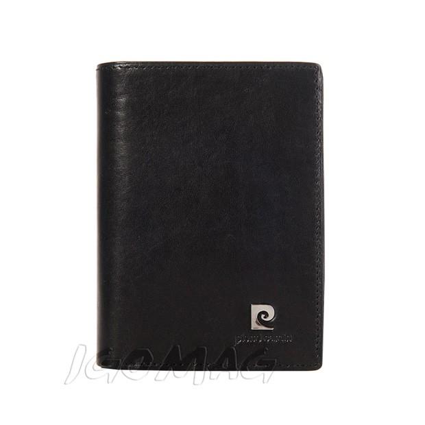 Pierre Cardin - Skórzany męski portfel czarny (330-507.1)