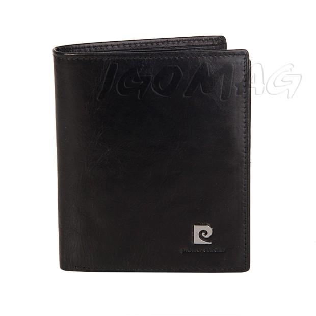 Pierre Cardin - Skórzany męski portfel czarny (327-507.1)