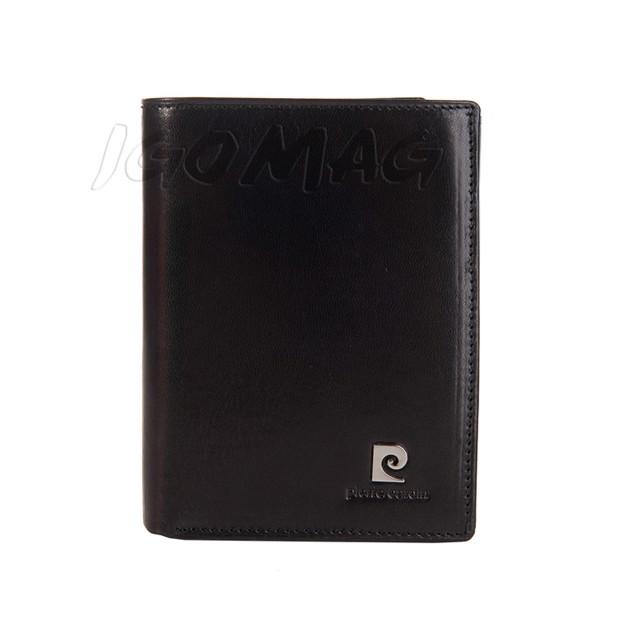 Pierre Cardin - Skórzany męski portfel czarny (326-507.1)