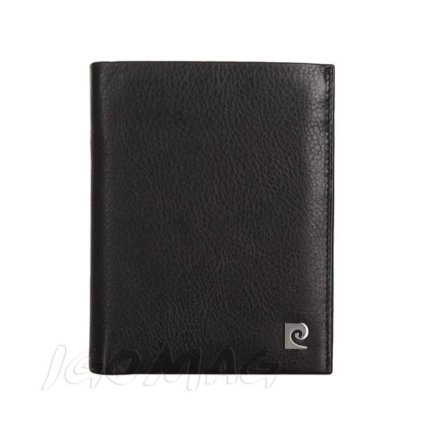 Pierre Cardin - Skórzany męski portfel miękka skóra czarny (326-TILAK03)