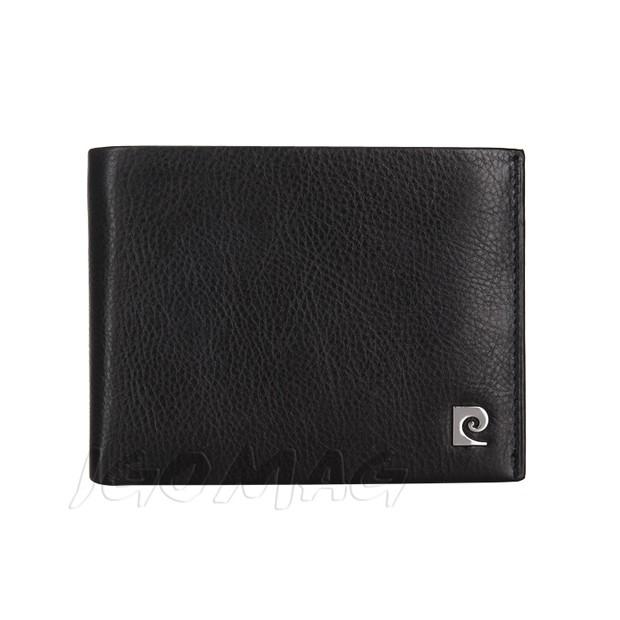 Pierre Cardin - Skórzany męski portfel miękka skóra czarny (8806-TILAK03)