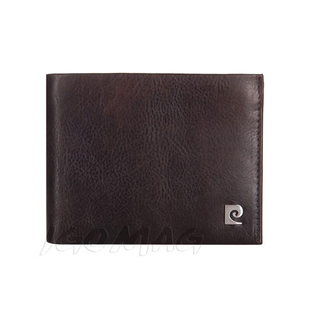 Pierre Cardin - Skórzany męski portfel miękka skóra brązowy (8806-TILAK03)