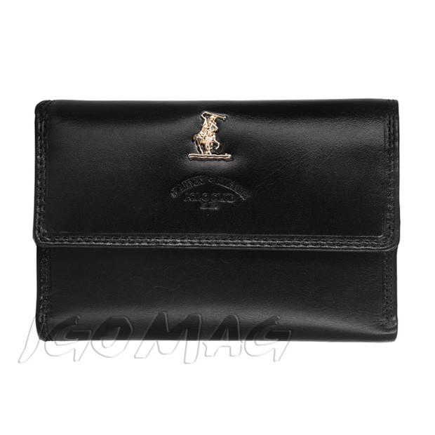 Harvey Miller - skórzany portfel damski czarny (3820-121)