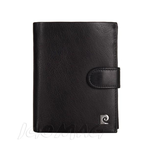 Pierre Cardin - Skórzany męski portfel miękka skóra czarny (326A-TILAK03)