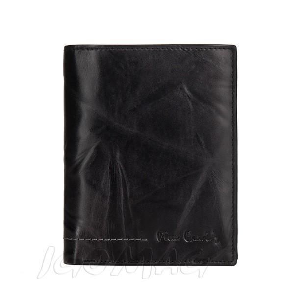 Pierre Cardin - Skórzany męski portfel miękka skóra czarny (326-TILAK02)