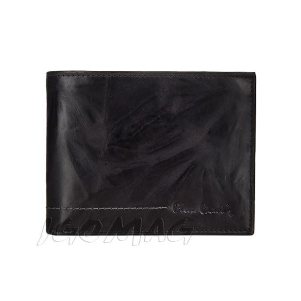 Pierre Cardin - Skórzany męski portfel miękka skóra czarny (8806-TILAK02)