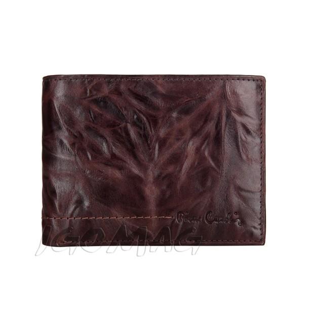 Pierre Cardin - Skórzany męski portfel miękka skóra brązowy (8806-TILAK02)
