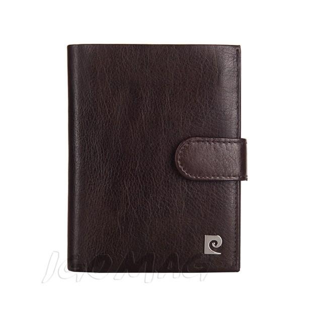 Pierre Cardin - Skórzany męski portfel miękka skóra brązowy (326A-TILAK03)