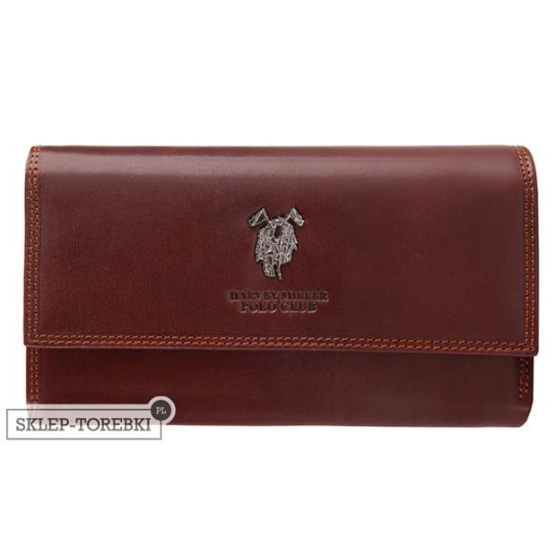 Harvey Miller - Duży skórzany portfel damski brązowy (3820-230)