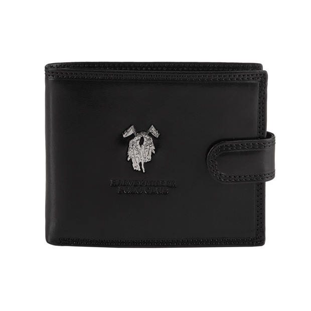 Harvey Miller - Skórzany męski portfel czarny (3820-561)