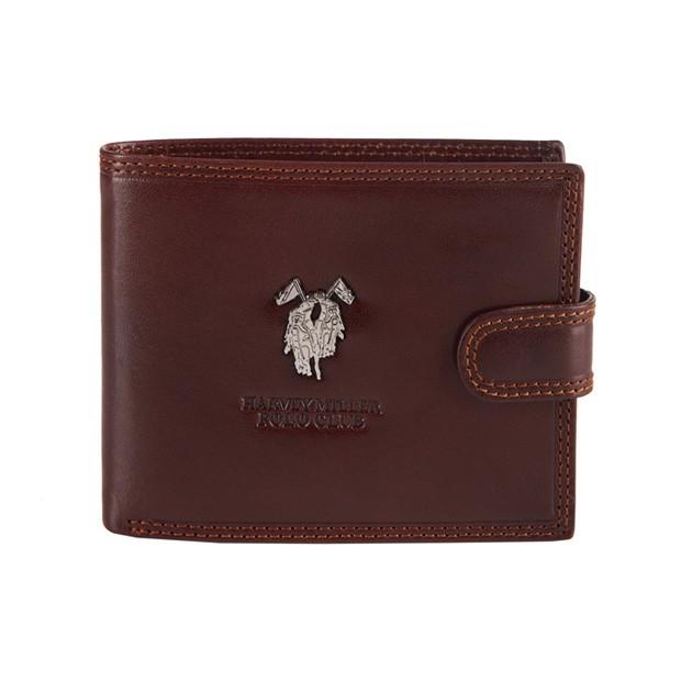 Harvey Miller - Skórzany męski portfel brązowy (3820-561)