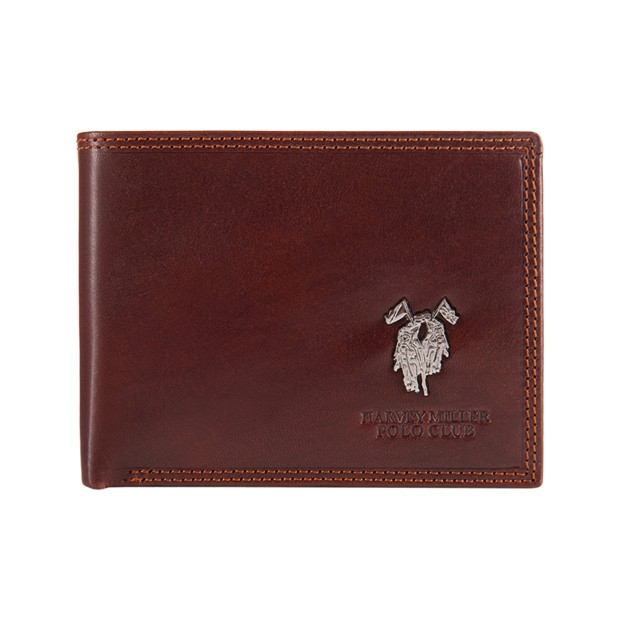 Harvey Miller - Skórzany męski portfel brązowy (3820-292E)