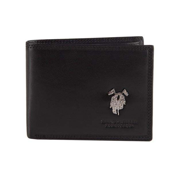 Harvey Miller - Skórzany męski portfel czarny (3820-292E)