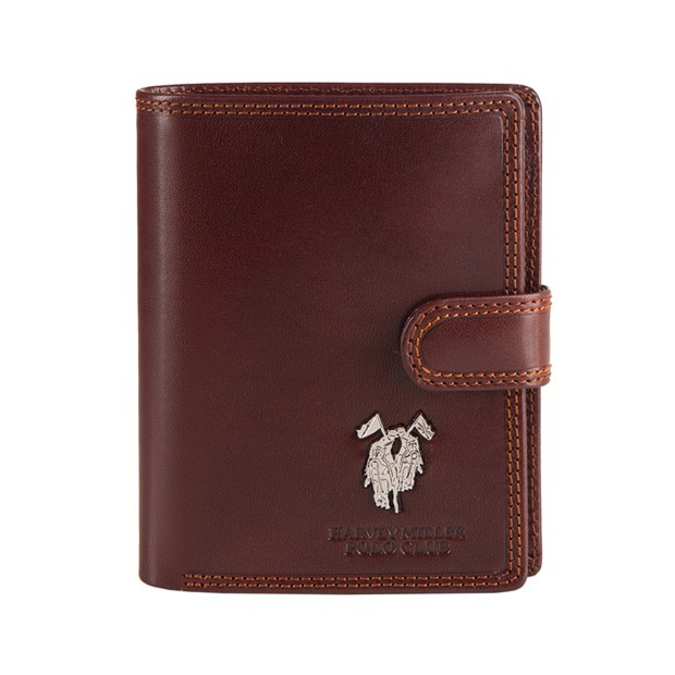 Harvey Miller - Skórzany męski portfel brązowy (3820-PL01)