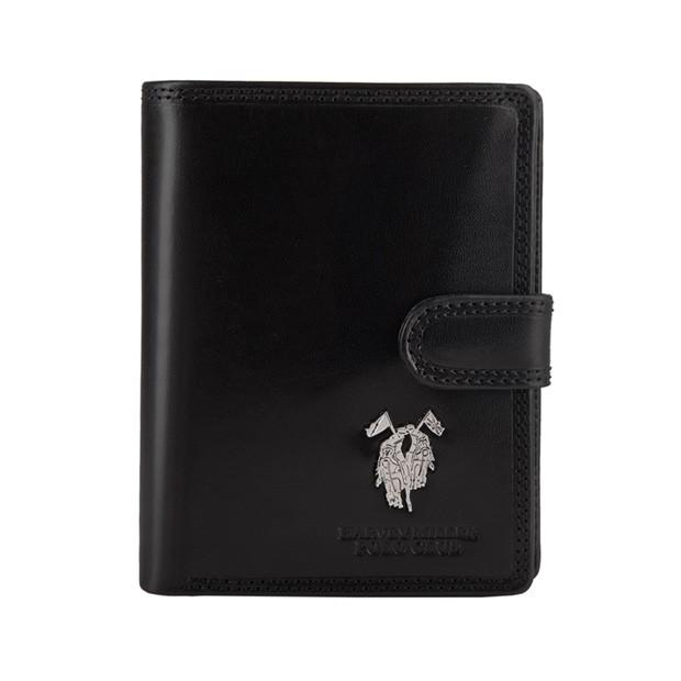 Harvey Miller - Skórzany męski portfel czarny (3820-PL01)