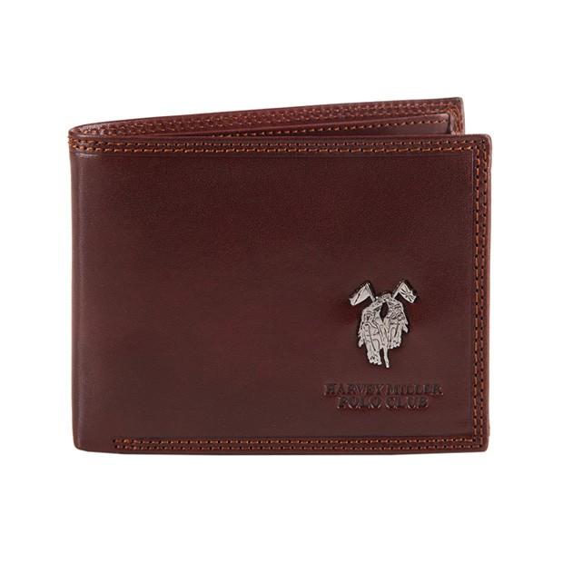 Harvey Miller - Skórzany męski portfel brązowy (3820-261)