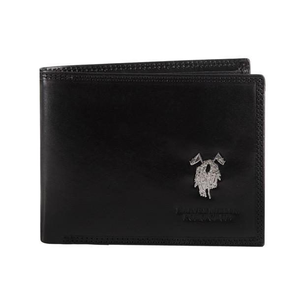 Harvey Miller - Skórzany męski portfel czarny (3820-261)