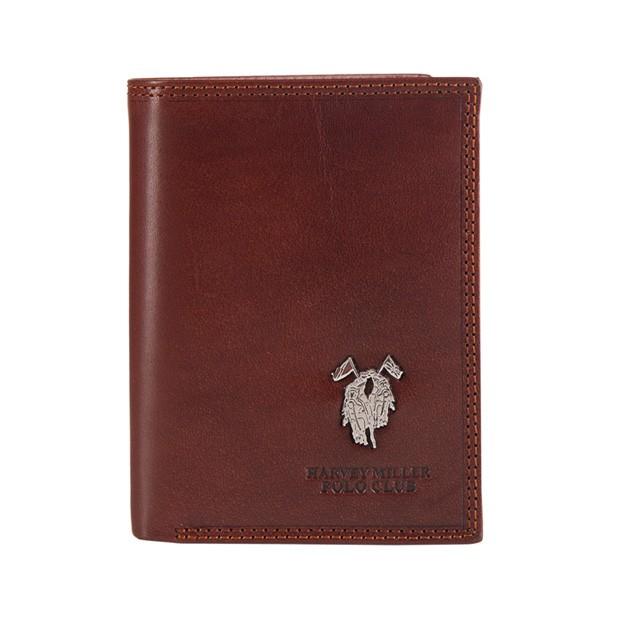 Harvey Miller - Skórzany męski portfel brązowy (3820-475)