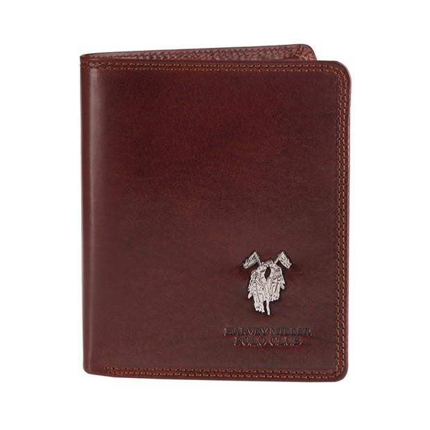 Harvey Miller - Skórzany męski portfel brązowy (3820-PL03)