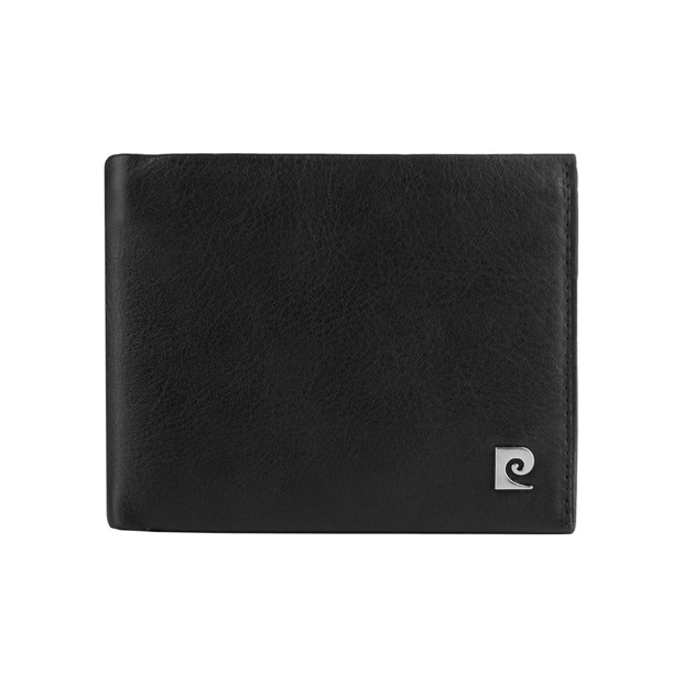 Pierre Cardin - Skórzany męski portfel czarny (325-TILAK03)