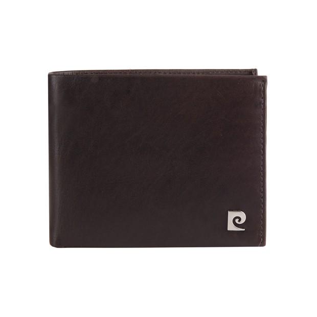 Pierre Cardin - Skórzany męski portfel brązowy (325-TILAK03)