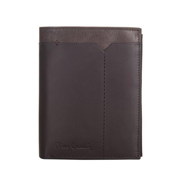Pierre Cardin - Skórzany męski portfel ciemny brąz + brąz (326-CACTUS)