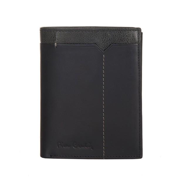 Pierre Cardin - Skórzany męski portfel czarny + popiel (326-CACTUS)