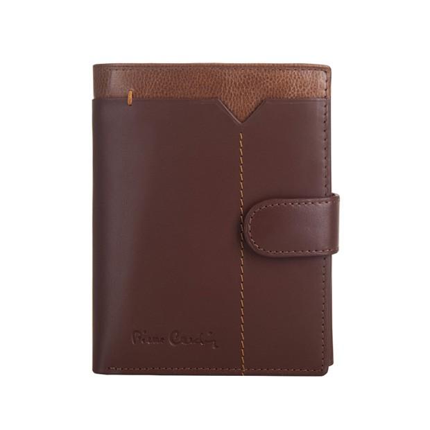 Pierre Cardin - Skórzany męski portfel brąz + camel (326A-CACTUS)