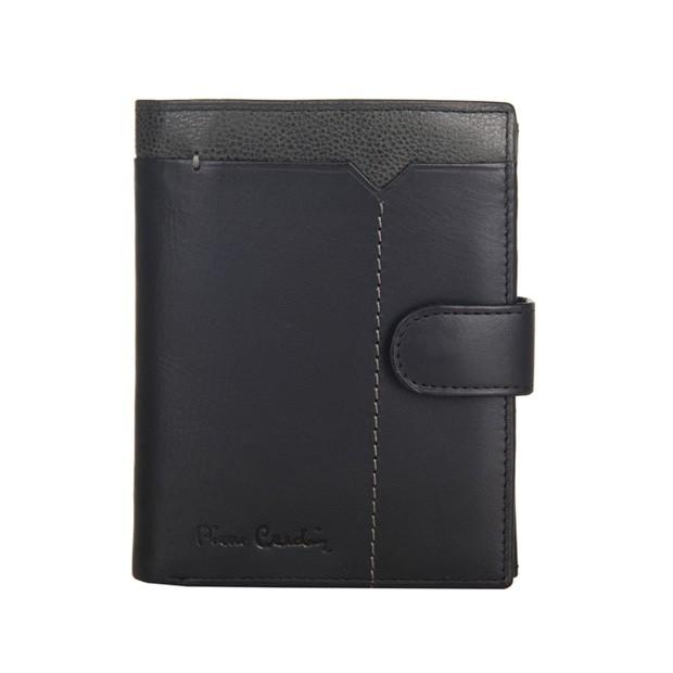 Pierre Cardin - Skórzany męski portfel czarny + popiel (326A-CACTUS)