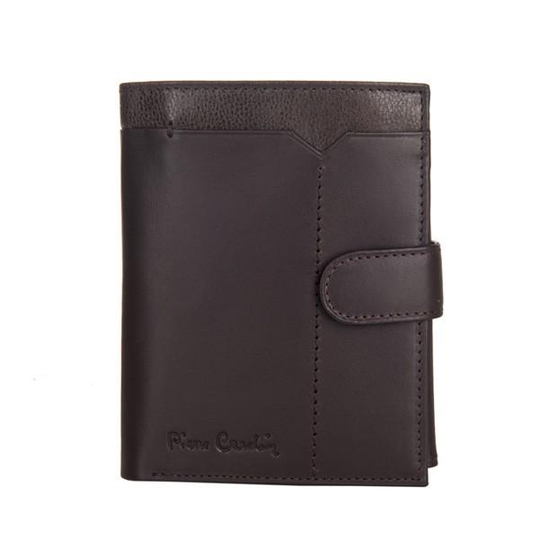 Pierre Cardin - Skórzany męski portfel ciemny brąz + brąz (326A-CACTUS)