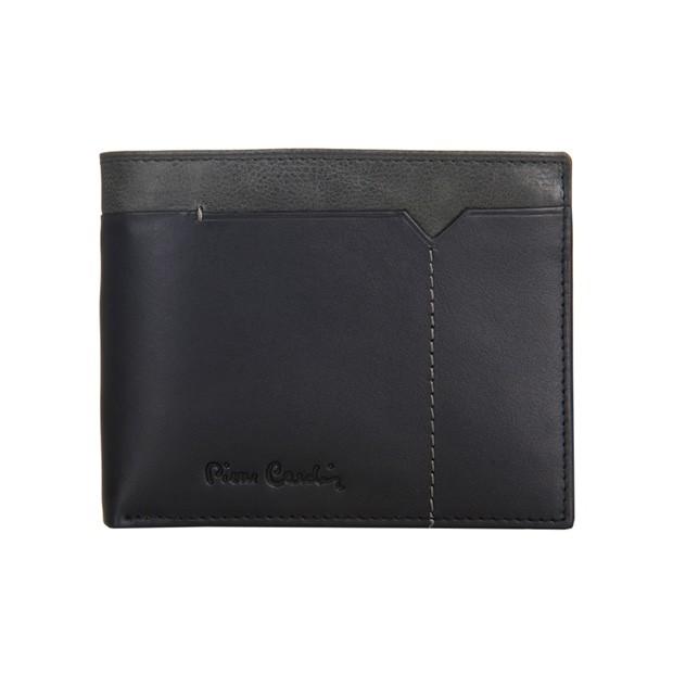 Pierre Cardin - Skórzany męski portfel czarny + popiel (8806-CACTUS)