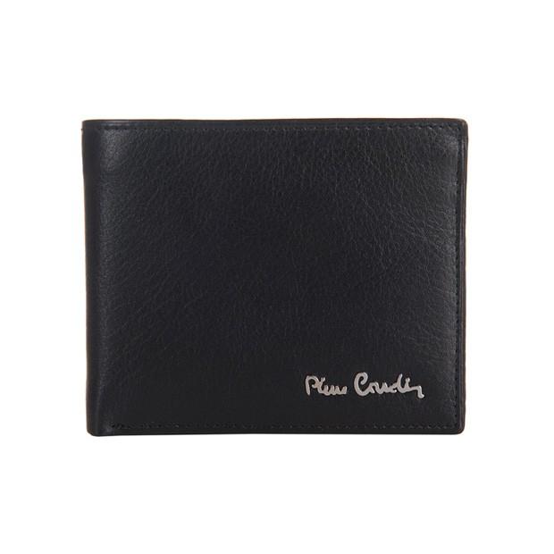 Pierre Cardin - Skórzany męski portfel czarny (8824-TILAK06)