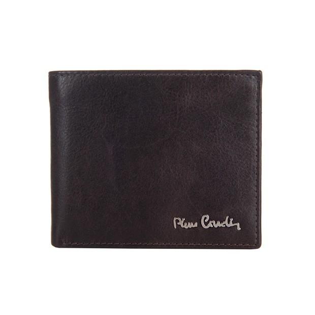 Pierre Cardin - Skórzany męski portfel ciemny brąz (8824-TILAK06)