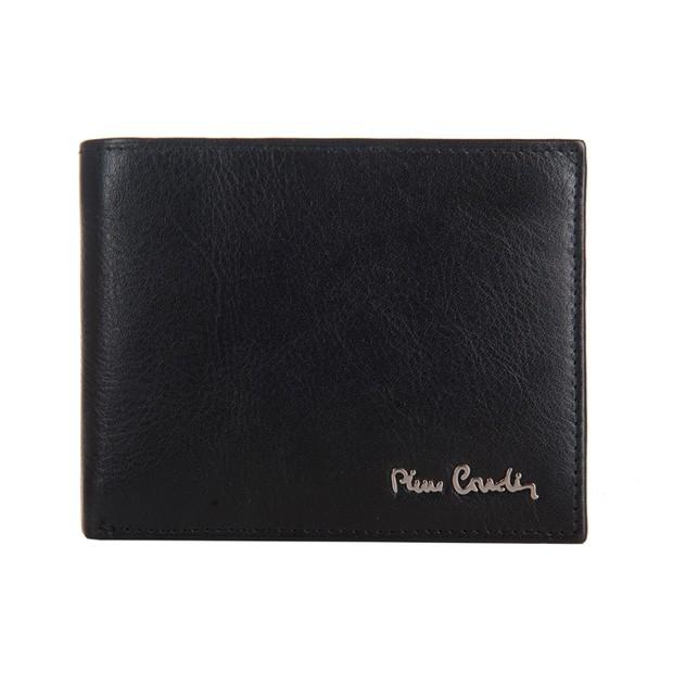Pierre Cardin - Skórzany męski portfel czarny (8806-TILAK06)