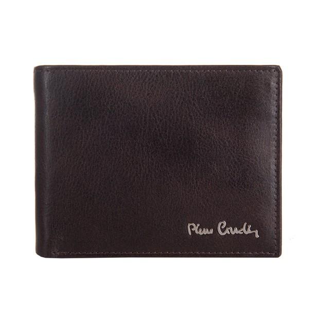 Pierre Cardin - Skórzany męski portfel ciemny brąz (8806-TILAK06)