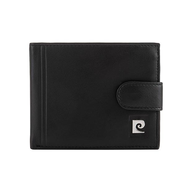Pierre Cardin - Skórzany męski portfel czarny (323A-TILAK08)