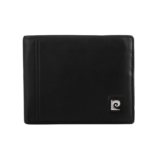 Pierre Cardin - Skórzany męski portfel czarny (325-TILAK08)