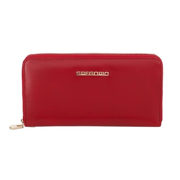 Gregorio - Skórzany duży damski portfel czerwony (N119-RED)