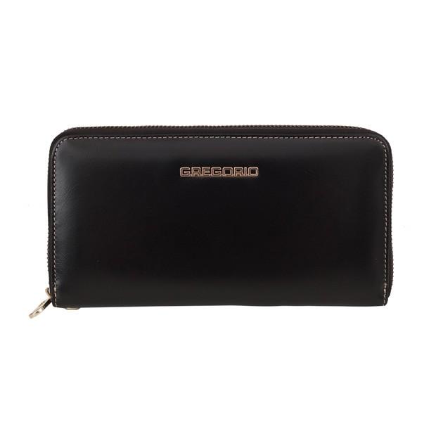Gregorio - Skórzany duży damski portfel czarny (N119-BLACK)