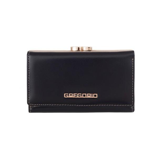Gregorio - Skórzany damski portfel granatowy (N108-BLUE)