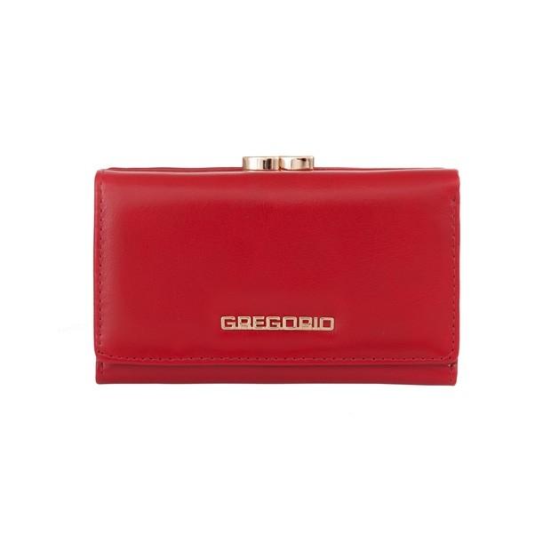 Gregorio - Skórzany damski portfel czerwony (N108-RED)