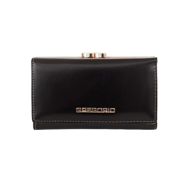 Gregorio - Skórzany damski portfel czarny (N108-BLACK)