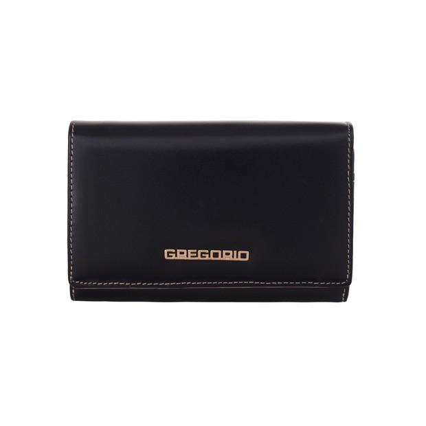 Gregorio - Skórzany damski portfel granatowy (N112-BLUE)
