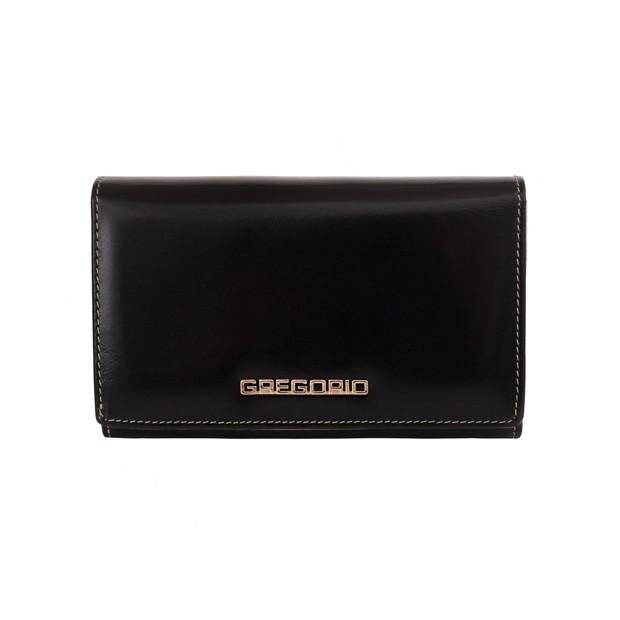 Gregorio - Skórzany damski portfel czarny (N112-BLACK)