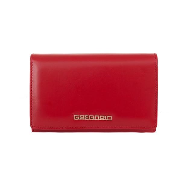 Gregorio - Skórzany damski portfel czerwony (N112-RED)